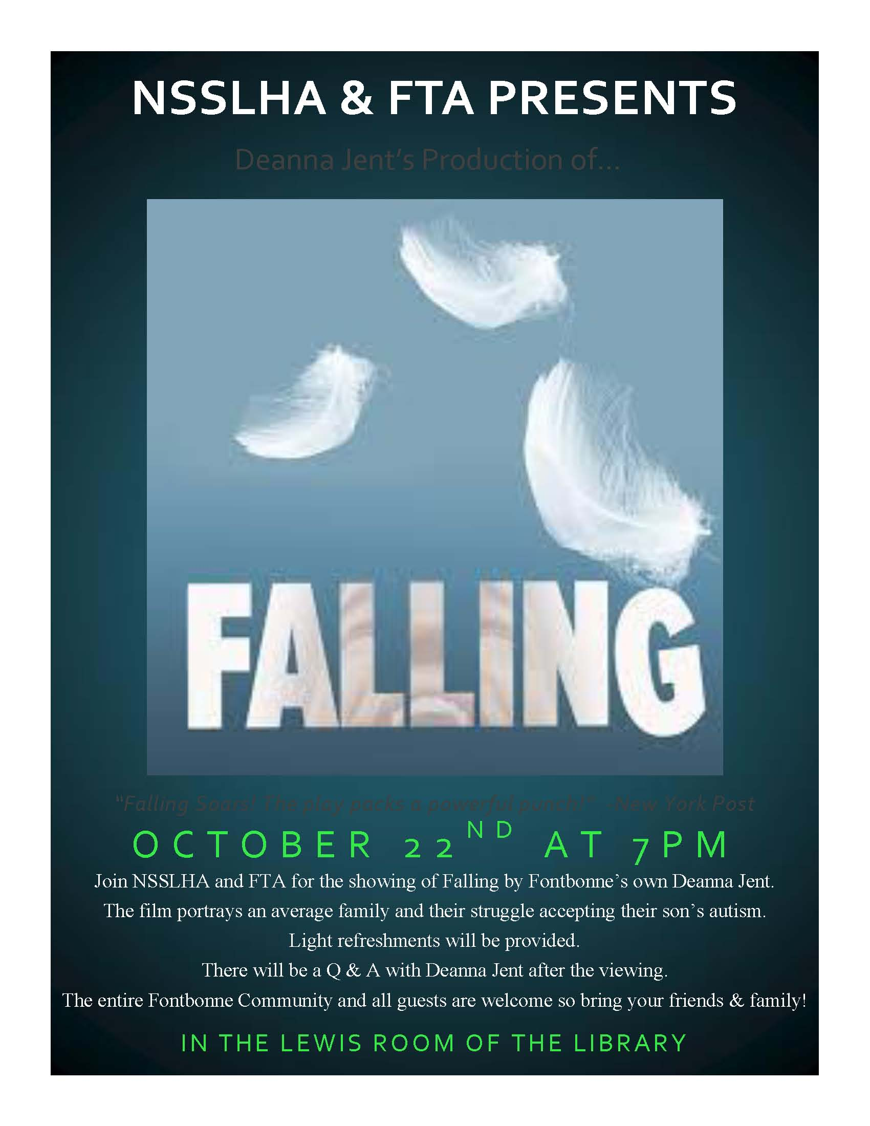 Falling DVD Screening