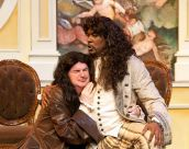 Gary Wayne Barker as Tartuffe and J. Samuel Davis as Orgon